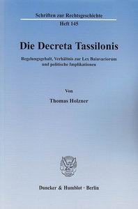 Die Decreta Tassilonis