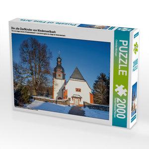 Die alte Dorfkirche von Niederseelbach 2000 Teile Puzzle quer