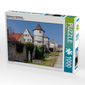 Stadtmauer in Dettelbach 1000 Teile Puzzle quer