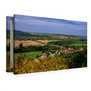 Premium Textil-Leinwand 90 cm x 60 cm quer Saaletal