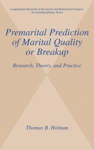 Premarital Prediction of Marital Quality or Breakup