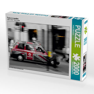 Taxis in London 2000 Teile Puzzle quer