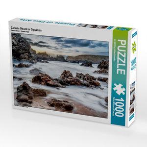 Zarauts Strand in Gipuzkoa 1000 Teile Puzzle quer