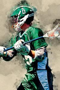 Premium Textil-Leinwand 30 cm x 45 cm hoch Lacrosse