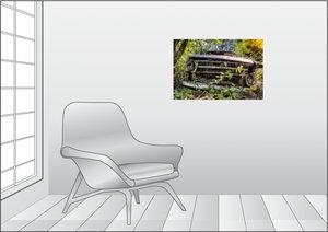 Premium Textil-Leinwand 75 cm x 50 cm quer Rostlaube Opel Kadett