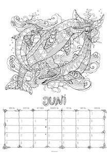 Ausmalkalender 2018