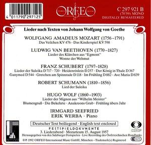 Goethe-Lieder: Das Veilchen/Lied der Suleika/+
