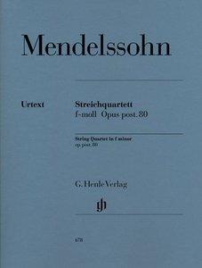 Streichquartett f-moll op. post. 80