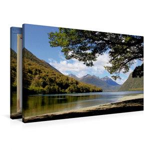 Premium Textil-Leinwand 90 cm x 60 cm quer Mirror Lakes