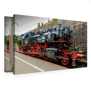 Premium Textil-Leinwand 75 cm x 50 cm quer Dampflokomotive Baure
