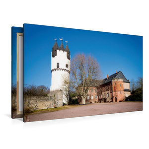 Premium Textil-Leinwand 120 cm x 80 cm quer Schloss Steinheim, H