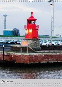 Leuchttürme an der Nordsee (Wandkalender 2018 DIN A3 hoch)