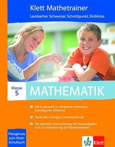 Klett Mathetrainer. Mathematik 5. Klasse CD-ROM für Windows 2000