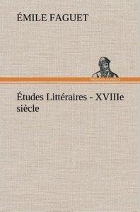 Études Littéraires - XVIIIe siècle.