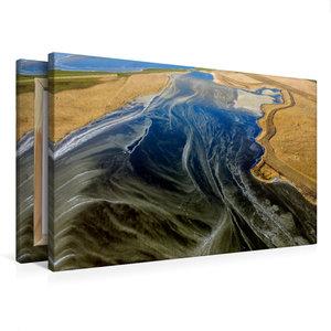 Premium Textil-Leinwand 75 cm x 50 cm quer Frostiger Hauke-Haien