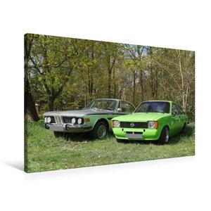 Premium Textil-Leinwand 90 cm x 60 cm quer BMW und Opel Kadett C