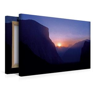 Premium Textil-Leinwand 45 cm x 30 cm quer Sonnenaufgang im Yose