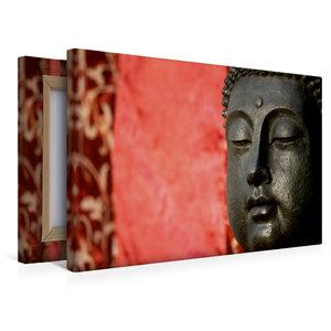 Premium Textil-Leinwand 45 cm x 30 cm quer BUDDHA - Ruhe