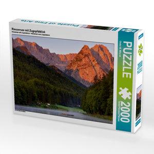 Riessersee mit Zugspitzblick 2000 Teile Puzzle quer