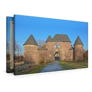 Premium Textil-Leinwand 90 cm x 60 cm quer Burg Vondern in Oberh