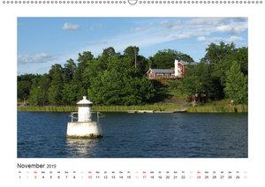 Stockholmer Schärengarten (Wandkalender 2019 DIN A2 quer)