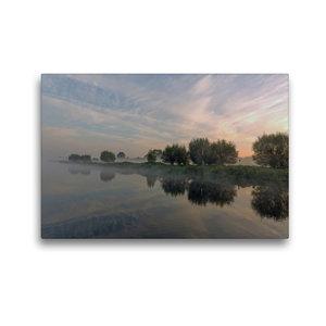 Premium Textil-Leinwand 45 cm x 30 cm quer Nebelzauber am Elbe L