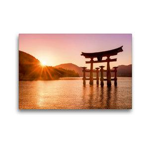 Premium Textil-Leinwand 45 cm x 30 cm quer Itsukushima Schrein i