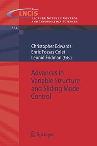Advances in Variable Structure and Sliding Mode Control