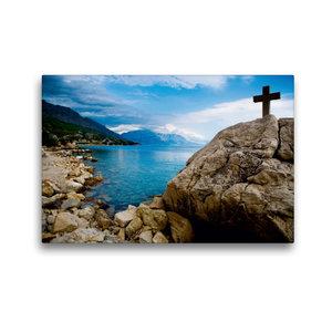 Premium Textil-Leinwand 45 cm x 30 cm quer Adriatische Küste bei
