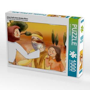 Jesus heilt einen blinden Mann 1000 Teile Puzzle quer