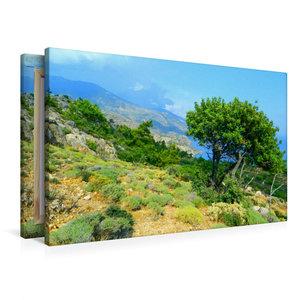 Premium Textil-Leinwand 90 cm x 60 cm quer Kretas NW-Küste entla
