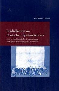 Städtebünde im deutschen Mittelalter