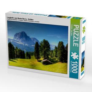 Langkofel vom Monte Stevia - Gröden 1000 Teile Puzzle quer