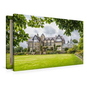 Premium Textil-Leinwand 90 cm x 60 cm quer Bodnant House and Gar