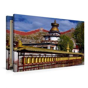 Premium Textil-Leinwand 90 cm x 60 cm quer Kumbum, Gyantse, Ü, A