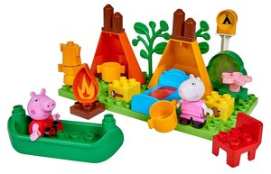 BIG 800057143 - PlayBIG Bloxx, Peppa Pig, Peppa Wutz, Camping Se