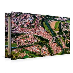 Premium Textil-Leinwand 90 cm x 60 cm quer Die Altstadt von Frib