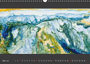 Abstraktionen auf Leinwand (Wandkalender 2019 DIN A3 quer)