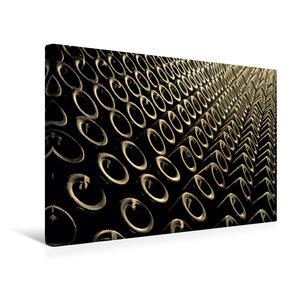 Premium Textil-Leinwand 45 cm x 30 cm quer Keller Flaschen