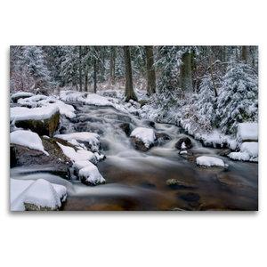 Premium Textil-Leinwand 120 cm x 80 cm quer Bodewasserfall