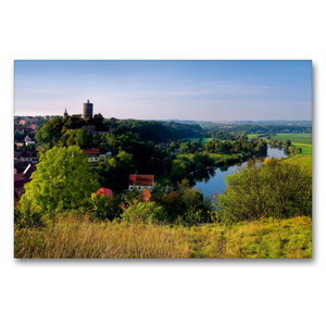 Premium Textil-Leinwand 90 cm x 60 cm quer Schönburg