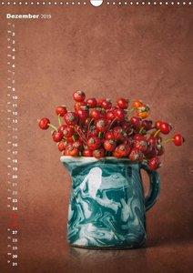 Blumenschmuck in Bunzlau Keramik (Wandkalender 2019 DIN A3 hoch)