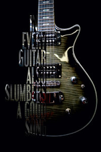 Premium Textil-Leinwand 50 cm x 75 cm hoch Elektrische Gitarre m