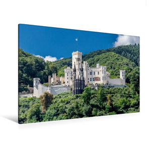 Premium Textil-Leinwand 120 cm x 80 cm quer Schloss Stolzenfels