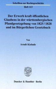 Der Erwerb kraft öffentlichen Glaubens in der württembergischen