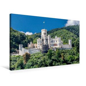 Premium Textil-Leinwand 75 cm x 50 cm quer Schloss Stolzenfels -