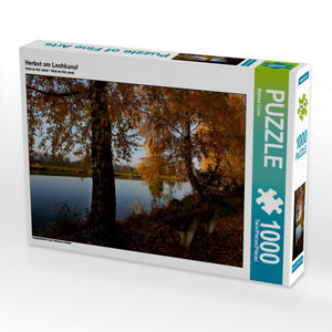 Herbst am Lechkanal 1000 Teile Puzzle quer