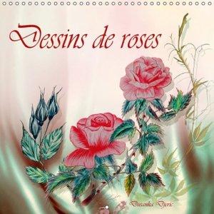 Dessins de roses (Calendrier mural 2015 300 × 300 mm Square)