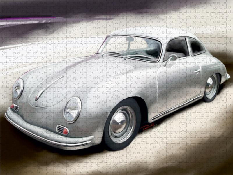 Porsche 356 A 1000 Teile Puzzle quer - zum Schließen ins Bild klicken