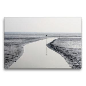 Premium Textil-Leinwand 75 cm x 50 cm quer Das Stille Watt
